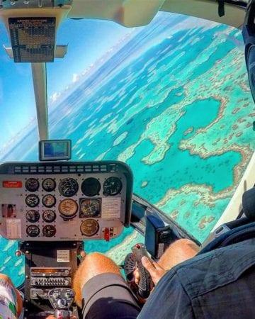 聖靈群島心形礁直升機